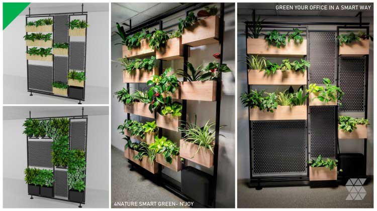 The release of N'Joy - our proprietary partition with a vertical garden