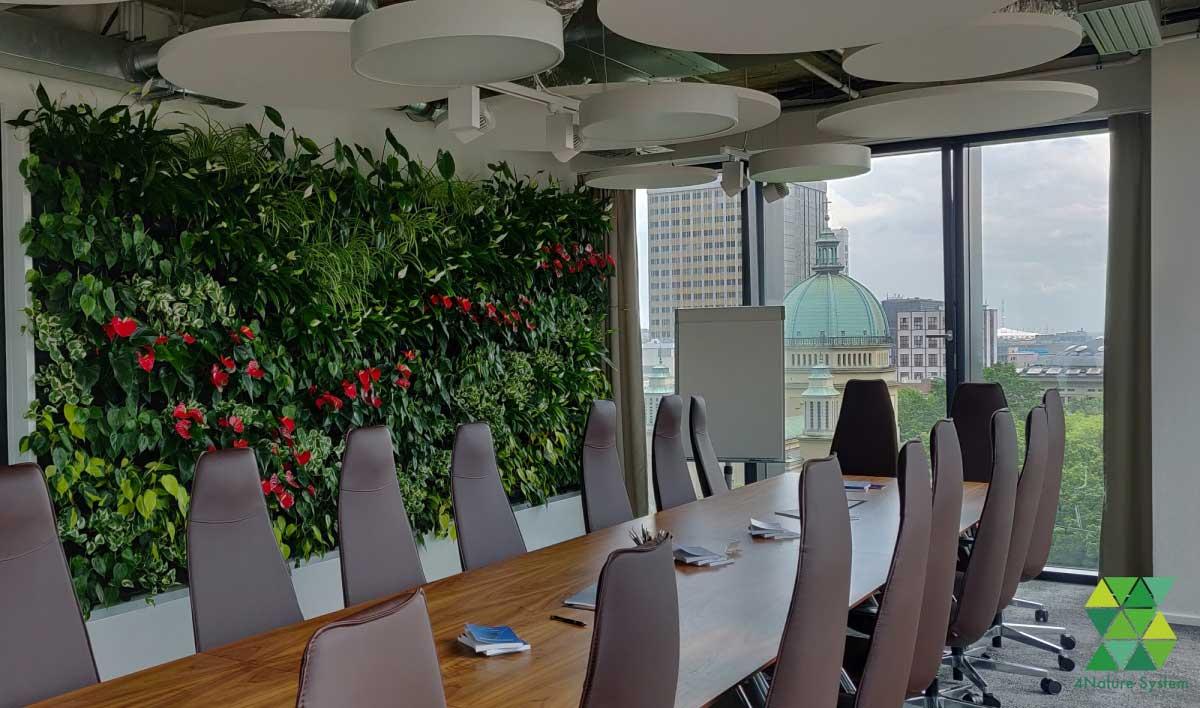 Vertikaler Garten Pflanzenwand 4nature System